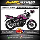 Stiker motor decal Honda Tiger Revo Purple Mecha Grafis