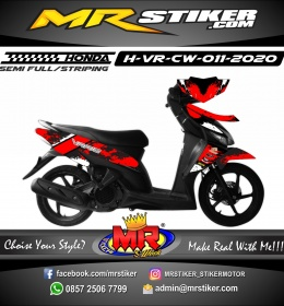 Stiker motor decal Honda Vario CW Red Splater
