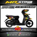 Stiker motor decal Honda Vario CW Rainbow Color