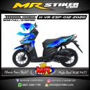 Stiker motor decal Honda Vario EPS Blue Ice Tribal and Carbon