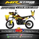 Stiker motor decal D-TRACKER New Yellow DarkMode Grafis