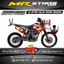 Stiker motor decal D-TRACKER Old SuperMoto Race