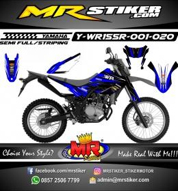 Stiker motor decal Yamaha WR 155 R Blue Kits Race