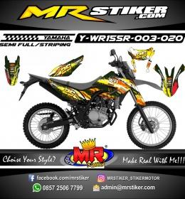 Stiker motor decal Yamaha WR 155 R Splat Lambo RA