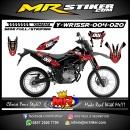 Stiker motor decal Yamaha WR 155 R Carbon Tech