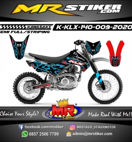 Stiker motor decal KLX 140 Neon Color Grafis