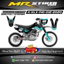 Stiker motor decal KLX 140 Blue Ice Race