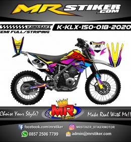 Stiker motor decal KLX 150 Fox Purple Gradation FullColor