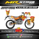 Stiker motor decal KLX 150 BF Fox Orange Fire