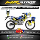 Stiker motor decal KLX 150 BF Camo Yellow Strip