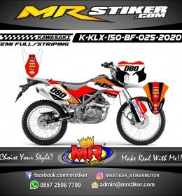 Stiker motor decal KLX 150 BF Repsol Grafis Decal