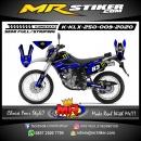 Stiker motor decal KLX 250 Blue Monster Energy