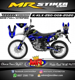 Stiker motor decal KLX 250 Blue Monster Energy