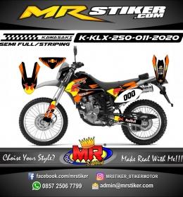 Stiker motor decal KLX 250 RedBull Team