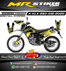 Stiker motor decal KLX 250 Yellow Alpinestars