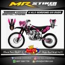 Stiker motor decal KLX GORDONS Pink Splater