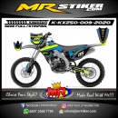 Stiker motor decal KX 250 Blue Crack Line Stabillo