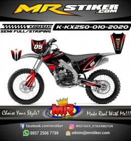Stiker motor decal KX 250 Dark Red Gradation