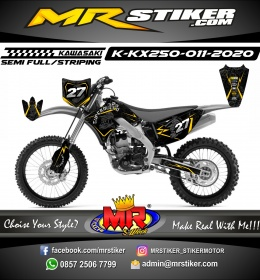 Stiker motor decal KX 250 Line Gold Batik SuperMoto