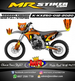 Stiker motor decal KX 250 Orange Race