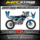 Stiker motor decal KX 250 New Blue Graphic Decal New Motif