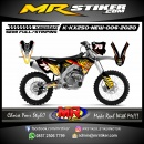 Stiker motor decal KX 250 New Flame Road Race