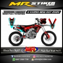 Stiker motor decal KX 250 New Red and Blue Ice Neon Graphic