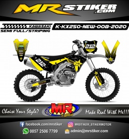 Stiker motor decal KX 250 New Rockstar Graphic Decal