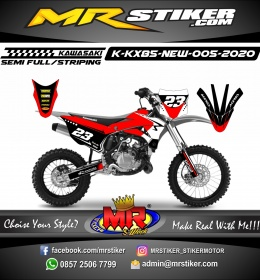 Stiker motor decal KX 85 New Red Critical