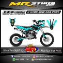 Stiker motor decal KX 85 New Blue Ice Molekul