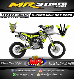 Stiker motor decal KX 85 New Gray Brush Gradation Line Grafis Stabillo