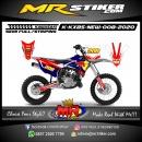 Stiker motor decal KX 85 New RedBull Street