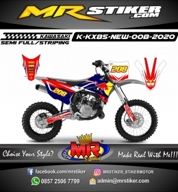 Stiker motor decal KX 85 New RedBull Street