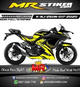 Stiker motor decal Kawasaki Ninja 250 New Yellow Rockstar