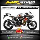 Stiker motor decal Kawasaki Ninja 250 New Skull White