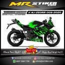 Stiker motor decal Kawasaki Ninja 250RR Mono Green Splat Road Carbon