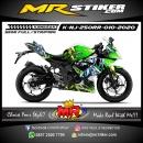 Stiker motor decal Kawasaki Ninja 250RR Mono Dragon Green Lighting