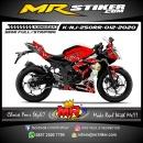 Stiker motor decal Kawasaki Ninja 250RR Mono Bleach Blood chain