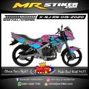Stiker motor decal Kawasaki Ninja R New Splatter Brush Flowing Full Color
