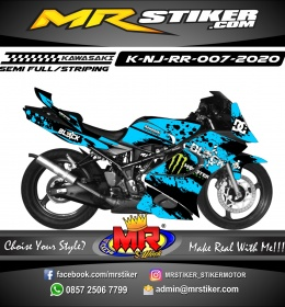 Stiker motor decal Kawasaki Ninja RR Bubble Splat Monster Energy X Block