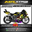 Stiker motor decal Kawasaki Ninja RR Women's Romantic Magic Skull