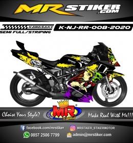 Stiker motor decal Kawasaki Ninja RR Women's Romantic Magic Skull