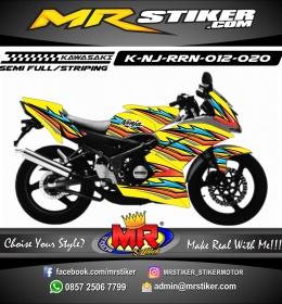 Stiker motor decal Kawasaki Ninja RR New Yellow Airbrush Grafis