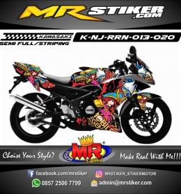 Stiker motor decal Kawasaki Ninja RR New Mobile Legend