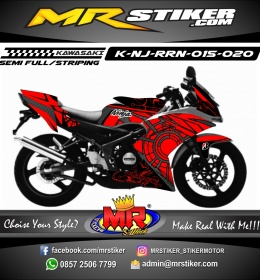 Stiker motor decal Kawasaki Ninja RR New Mecha Circle Carbon