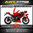 Stiker motor decal Kawasaki Ninja Z 250 Red Circle Tech