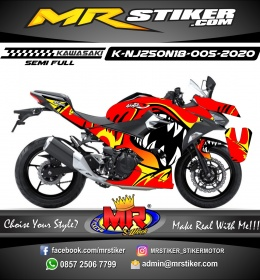 Stiker motor decal Kawasaki Ninja 2018 All New Dead Shark