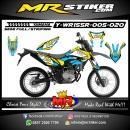 Stiker motor decal Yamaha WR 155 R Blue Yellow Earth