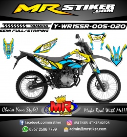 Stiker motor decal Yamaha WR 155 R Blue Yellow Earth