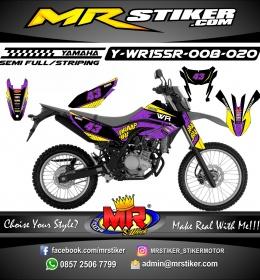 Stiker motor decal Yamaha WR 155 R Purple Glasses Braap